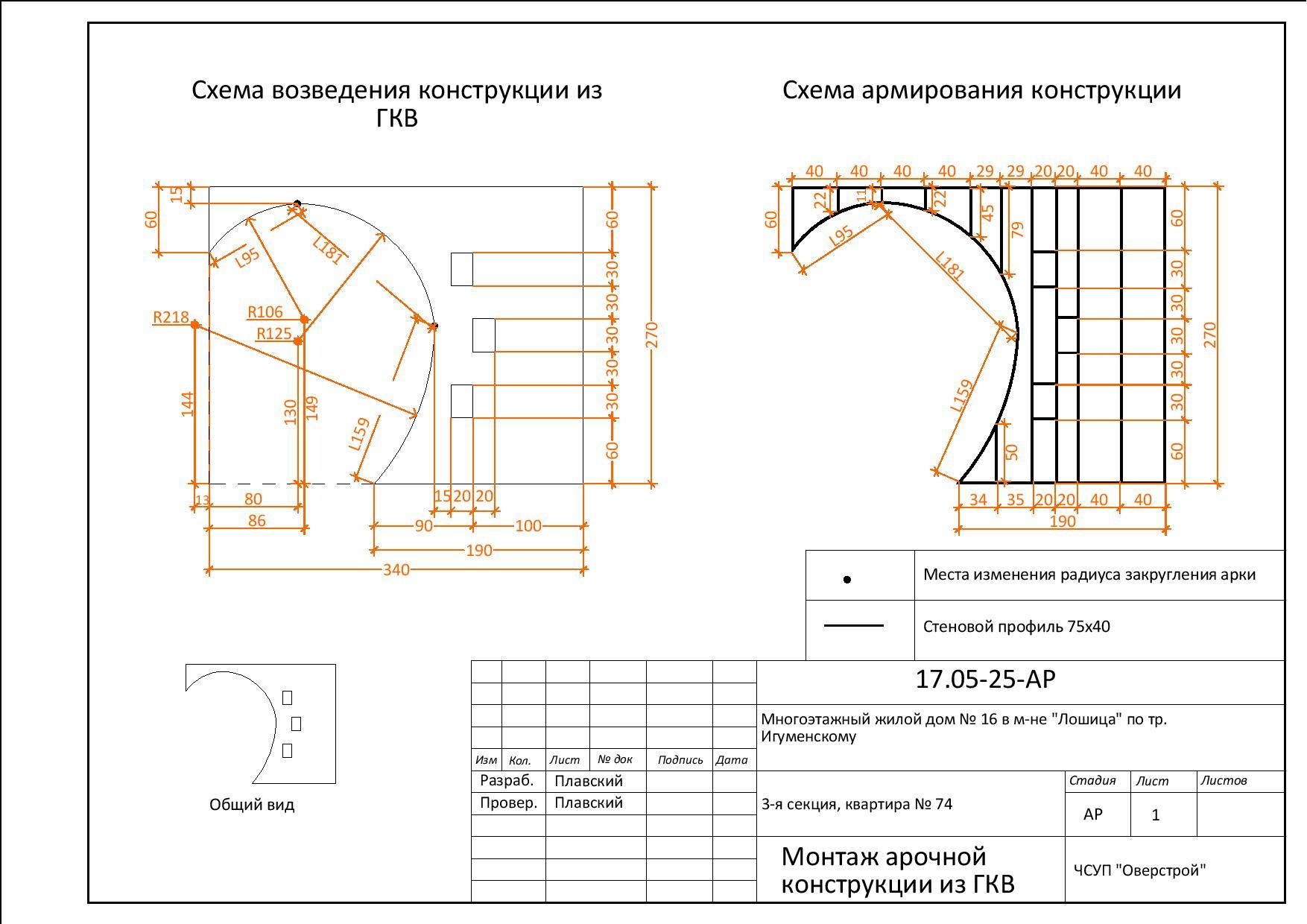 Каркас схема для перегородок из гкл