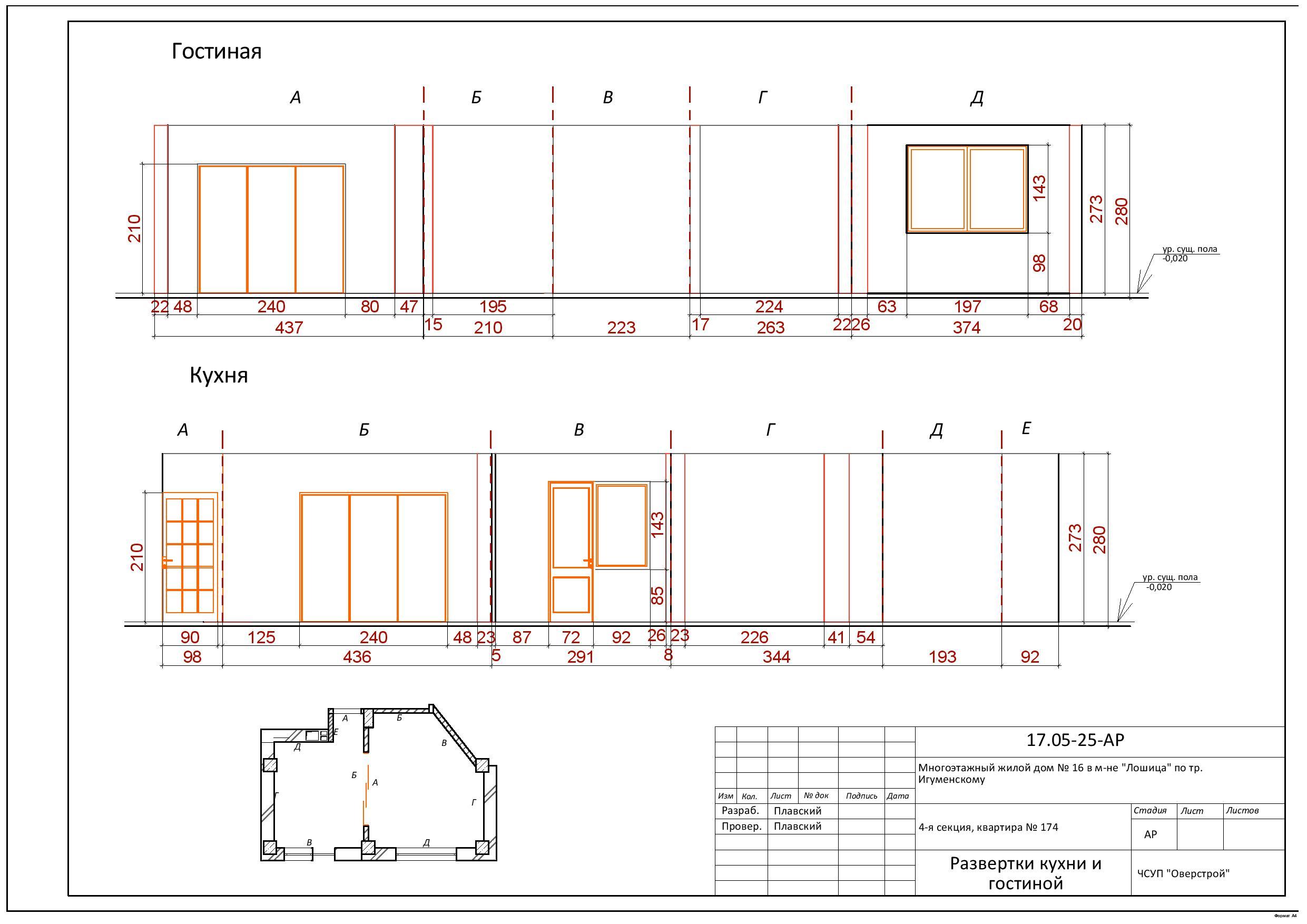 схема на расценки на строительные работы