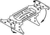 Двухуровневый соединитель для профиля CD 60х27